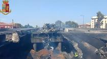 Autostrada A14 de langa Bologna dupa explozie