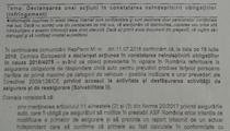 Scrisoare de infringement pentru nereguli RCA