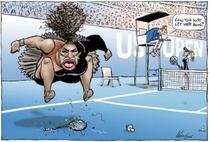 Caricatura cu Serena Williams