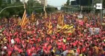 Manifestatie pro-secesiune la Barcelona