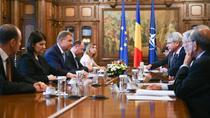 Iohannis, intalnire cu delegatia Comisiei de la Venetia