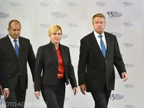 Klaus Iohannis, alaturi de Kolinda Grabar-Kitarovic si Rumen Radev, la Summitul celor Trei Mari