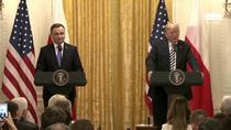 Andrzej Duda si Donald Trump, conferinta comuna