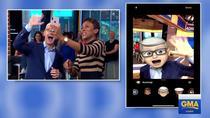 Tim Cook se joaca cu iPhone-ul in direct la TV