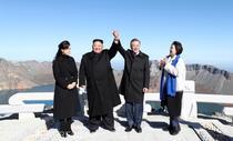 Kim Jong-un si Moon Jae-in pe Muntele Paekdu