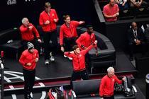 Echipa Restul Lumii dupa meciul de dublu