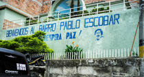 Pablo Escobar, graffiti