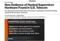 Bloomberg publica un nou articol despre spionajul cibernetic chinez