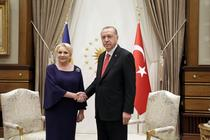 Viorica Dancila si Recep Tayyip Erdogan