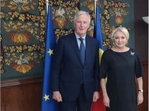 Viorica Dancila si Michel Barnier