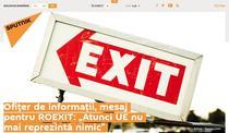Mesajul Roexit pe site-ul Sputnik