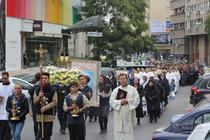 Procesiune cu relicva Sf. Papa Ioan Paul al II-lea in Capitala