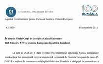 Adresa catre CJUE