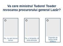 Sondaj Tudorel Toader Augustin Lazar
