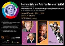 Premiul Benjamin Fondane 2018