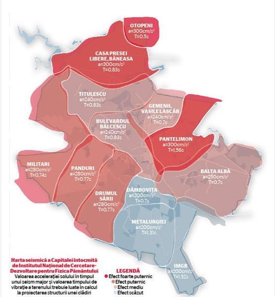 Harta Seismică A Bucureștiului Capitala Sud Est Europeană Cea Mai