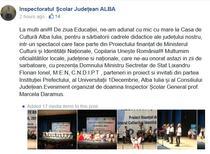 Mesajul cu greseli al ISJ Alba