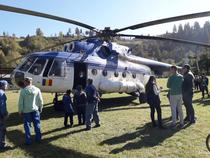 Elicopterul lui Dancila, la Borca, in Neamt