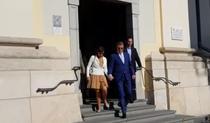 Klaus si Carmen Iohannis, la biserica in a doua zi de referendum