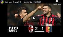 Milan - Genoa 2-1