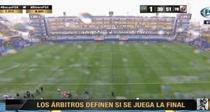 Ploaie torentiala la Boca vs River Plate