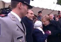 Macron, Merkel si gafa unei centenare