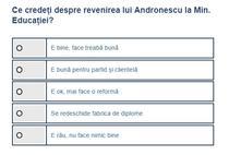 Sondaj Andronescu la Educatie