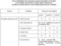 Ce voturi au primit candidatii ASF