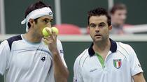 Potito Starace si Daniele Bracciali, la un meci de Cupa Davis din 2012