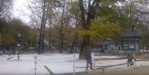 Patinoar amenajat in parc in Focsani