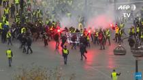 Ciocniri la protestele Vestelor Galbene, in Paris