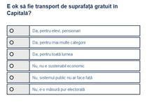 Sondaj transport gratuit Bucuresti
