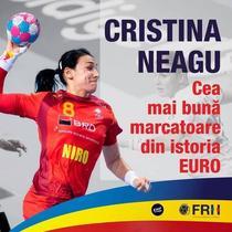Cristina Neagu, cea mai buna marcatoare din istoria EURO