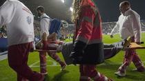 Cristian Ganea, scos cu targa de pe teren