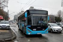 Autobuz Otokar cu display-ul exterior inchis sau defect