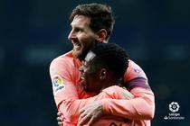 Lionel Messi si Ousmane Dembele