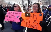 Protest la Casa Alba