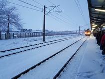 Tren pe timp de iarna