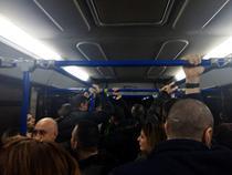 Pasageri blocati in autobuz, Otopeni