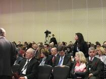 Imagine din timpul conferintei Euromoney 2019