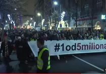 Manifestatie la Belgrad