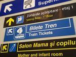 Indicatoare in Aeroportul Otopeni