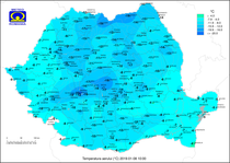 Temperaturile pe 8 ianuarie, la ora 10