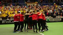 Echipa de FedCup a Romaniei si bucuria victoriei
