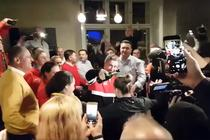 Botezul sampaniei in vestiarul echipei Romaniei de FedCup