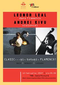 Leonor Leal (dans flamenco) și Andrei Kivu (violoncel)