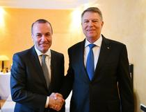 Manfred Weber si Klaus Iohannis