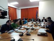 Imagine din timpul sedintei Comisiei de buget