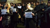 Protestul magistraților din Bucuresti