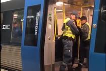 Incident la metroul din Stockholm